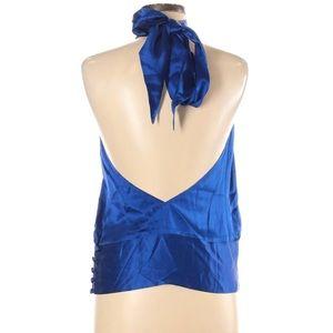 Sz 6 Mason Blue Silk Top